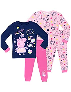 Peppa Pig - Pijama para niñas - Peppa Pig 2 Paquetes - Ajust Ceñido