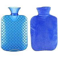 Sicheres PVC-starkes Heißwasser-Flasche mit Abdeckung halten warme/warme Hände heiße Therapien 1.8 Liter (blau) preisvergleich bei billige-tabletten.eu
