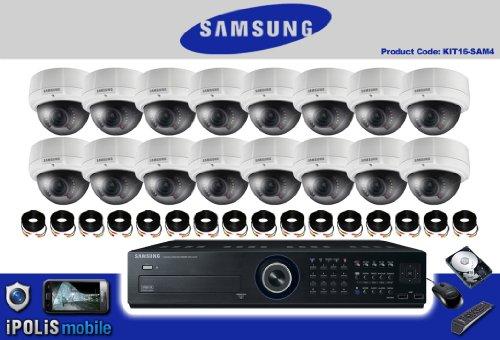 AV2 16 ch 1 TB Samsung SCV-2081R Überwachungskamera und DVR 4 Kit