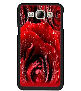 ColourCraft Beautiful Rose Design Back Case Cover for SAMSUNG GALAXY A8