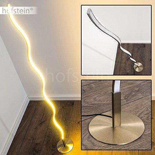 LED Stehleuchte Dillon aus Metall – geschwungene Bodenleuchte – Standlampe für Schlafzimmer, Wohnzimmer, Esszimmer – Retro-Stehlampe mit fest eingebauten LED – 3000 Kelvin – 1000 Lumen (Einer Auf Stehlampe Ist Deckenfluter)