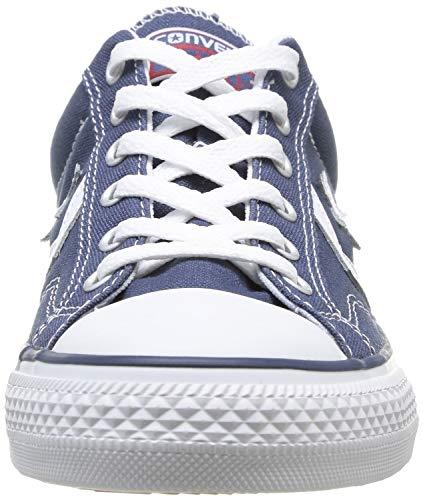 2 - Converse Lifestyle Star Player Ox Zapatillas, Unisex Adulto, Blanco White/Navy 111, 42 EU