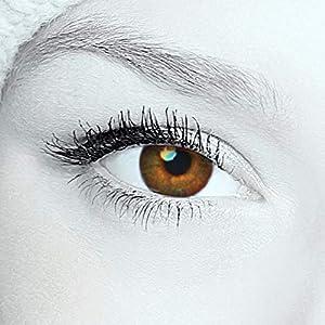 """2 Farbige Kontaktlinsen""""Haselnuss Braun"""" – 2x braune Kontaktlinsen ohne Stärke + gratis Kontaktlinsenbehälter"""
