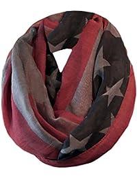 4e193693a3b7c4 LAFINITY T2343 USA Tuch Loop Halstuch Schal Grau, Rot, Blau Sterne, Stars  Stripes