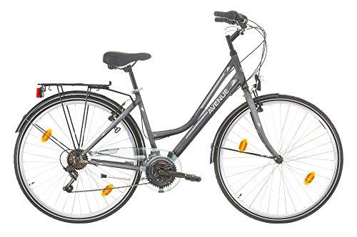 Frank Bikes 28 Zoll Damen Fahrrad City Bike Rad CITYFAHRRAD DAMENFAHRRAD CITYRAD DAMENRAD Shimano 18 Gang Avenue Lady GRAU