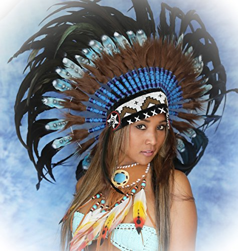 War bonnet Premium Federhaube Indianer Kopfschmuck, Karneval, Fotoshooting, Federhaube Dekoration Kopfschmuck coiffe indienne Real Feather war bonnet Indian Headdress War bonnet Real Feathers Indian Headdress - Tocado indio Fotoshootings 2018 Little Big Horn