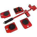 Meubellifter gemakkelijk te verplaatsen slider 5 stuks mobiele gereedschapsset, zware meubeltoevoer verschuiven en hefsysteem