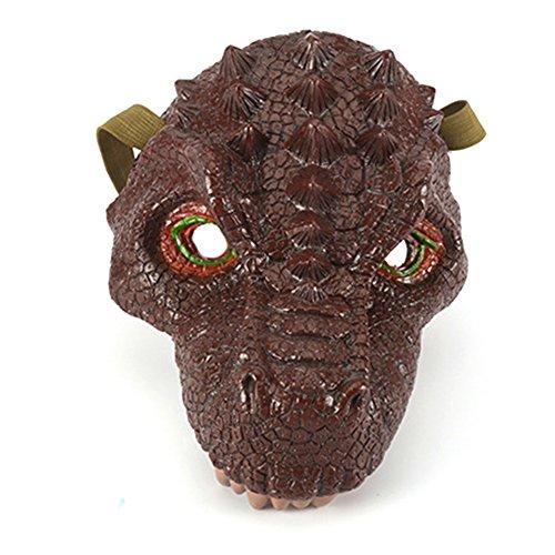 (Dinosaurier Face Maske Fancy Karneval Party Fotografie Halloween Scary Horror für Kinder Thema Parteien Familienfeiern Kleidung)