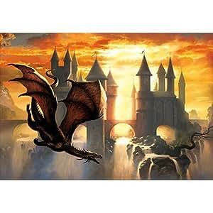 Educa - Puzzle 1000 pièces - Ciruelo : Le dragon du crépuscule