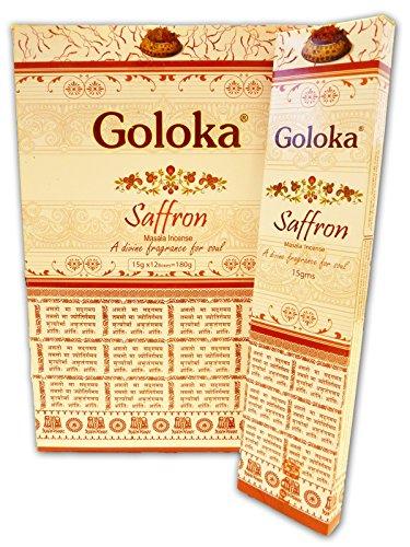 Goloka Räucherstäbchen Safran, 15 g (Mischung 15 G-packung)