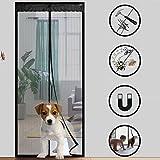 Magnetische Vorhang Moskito 100x210cm, Balkon Schlafzimmer Moskito Vorhang Magnetischer Vorhang, Kinder und Haustiere der automatischen Schließung der Bildschirm Fenster Netze Fliegengitter Tür
