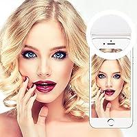 Yica 36 LED Selfie Licht Ring, Fotolicht Selfie Enhancing Nacht Front Kamera Licht für Smartphones und Tablets mit 3 Ebene Helligkeit