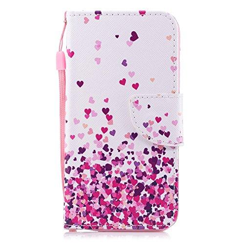 Wiko U Pulse Lite Hülle, Klassikaline® Wiko U Pulse Lite (5,2 Zoll) Schutzhülle Tasche Handyhülle {Bunte Retro Muster Serie} - Petit amour