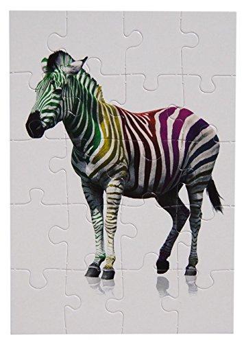 bsb - 493724 - Puzzle Card, mit Umschlag, 20 Teile, Zebra - Zebra-teile