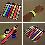 Gwill 5er Pack LED Slap Armband LED Snap On Armband mit hoher Sichtbarkeit für Radfahren / Radfahren / Wandern / Joggen / Laufbekleidung Farbe zufällig