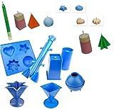 Proops Set X 7Kerzengießformen, 1x 4geformter Tablett, 1x Säule, 1x Stern, 1x Pyramide, 1x rechteckig, 1x Rocket, 1x Kugel (s7616). Versandkostenfrei innerhalb UK