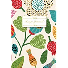 Recipe Journal: Blank Cookbook, Recipes & Notes, Recipe Notebook, Travel Size (6x9), 125 Pages, Floral Cover