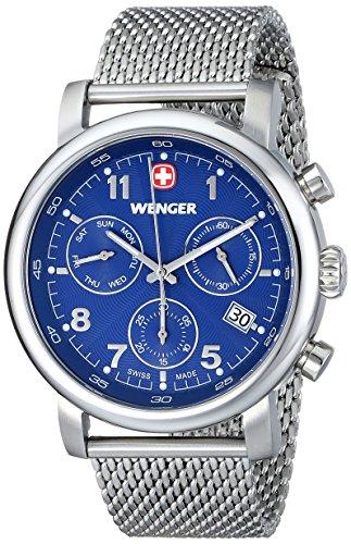 Wenger 011043101 - Reloj de pulsera hombre, acero inoxidable, color plateado