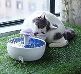 YGJT Fontaine à Boire Chats/Chiens Distributeur Automatique d'eau pour Animaux de Compagnie Eau Douce Garantie avec Filtre à Charbon 1.8L