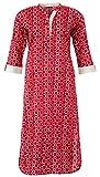 Diva Women's Cotton Straight Kurta (Red ...