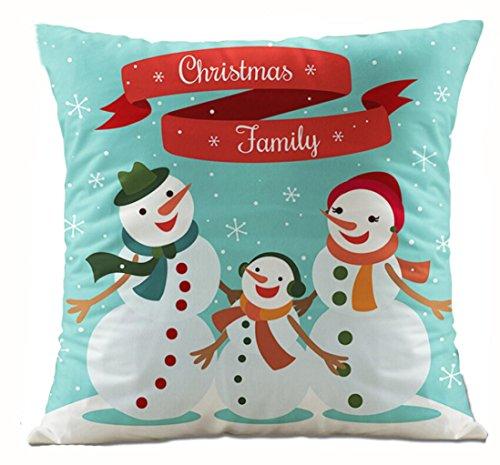 Charberry Père Noël Taie d'oreiller Canapé Taille Throw Housse de coussin, Tissu super doux, m, Size: 45cm*45cm
