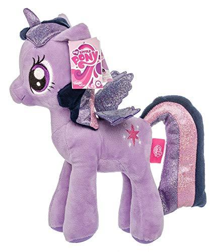Meine kleinen Ponys My Little Pony Plüschtier Kuscheltiere für Kinder, Mädchen, Glitzermähne Glitzerflügel Twilight Sparkle 27 cm (Violett)