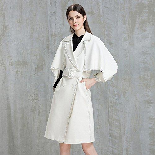 Veste En Laine Ladies Long Section Automne Et Hiver Vêtements Pour Femmes Cocoon Type Double Breasted Woolen Coat Epaississement