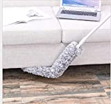 Microfiber Duster with Extension Pole,SELLBINDING Feather Duster Telescopic Pole Flexible, Bendable for Interior