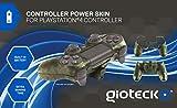 Gioteck - Controller Power Skin, Batería Incorporada, Color Camo (PlayStation 4)