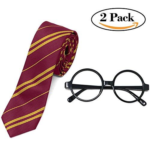 Tacobear Für Harry Potter kostümieren Neuheitsgläser und Krawatte. Zubehör für Halloween (Potter-kostüm-krawatte Harry)