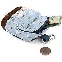 Dosige 1PCS Billetera de material de PU, Mujer Mini Cartera,Monedero con Cremallera,Bolso de Llave,Forma de mochila Monedero Azul 8.5 * 5.5cm