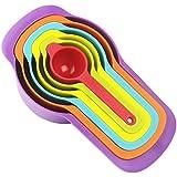 Ensembles de 6 Doseuses, Cuillères et Tasses à Mesurer en Plastique, Multicolore