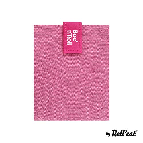 Roll'eat Boc'n'Roll Eco - Reutilizable bolsa para desayuno/ bocadillos sin BPA, Rosa width=