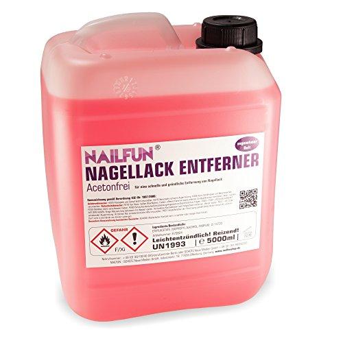 5 Liter Nagellackentferner mit Duft - Polish-Remover 5000ml ACETONFREI im Kanister