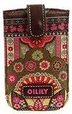 Oilily Handytasche Smartphone Hülle Pull Case Winter Ovation in Indigo, Biscuit oder Coffee, Farbe:Coffee