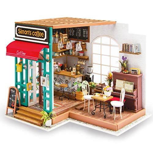 oiurv–robotime Jardín Modelo Kit–casas para mini MUÑECAS–DIY de madera Stem de juguete...