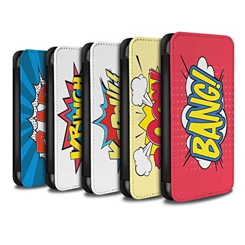 Stuff4 Coque/Etui/Housse Cuir PU Case/Cover pour Apple iPhone 5C / Pack 5pcs Design / Comics/Dessin Animé Mots Collection Pack 5pcs
