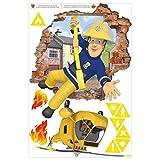 Wandtattoo - Feuerwehrmann Sam - bringt Dich in Sicherheit, 120cm x 80cm