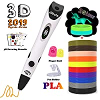 dikale 3D Pen 07A【Newest Version】 3D Pen Bonus 12 Colors 120 Feet PLA 250 Stencils eBook for Kids Adults Arts Crafts Model DIY, Non-Clogging
