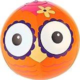 German Trendseller® - Wasserball Eule┃ Aufblasbarer Strandball Orange┃ Lieb Gucker ┃ 28 cm Ø