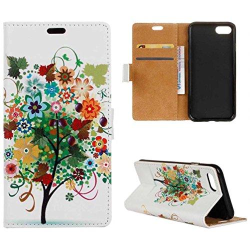 Coloré Motif PU Cuir portefeuille Housse Etui pour iPhone 7 (4,7 pouces) Case Coque Protection Flip Cover avec carte de crédit Slots (KW19#) KW04#