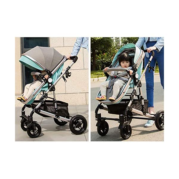 GHH Double Strollers Baby Pram Tandem Buggy Newborn Pushchair Ultra Light Folding Child Shock Absorber Trolley Can Sit Half Lying 0-3 Years Old,60kg Maximum,UpgradedversionBlue GHH 1. {Four seasons can be} - Three-sided mesh design, the awning can be adjusted to multiple angles, easy to cope with the sun 2. {75CM high landscape} - Baby can stay away from the ground heat, car exhaust to ensure your baby's health 3. {Multiple shock absorption design} - Body frame spring shockproof, rear wheel, two wheel brakes, wheel spring shockproof, baby safety 6