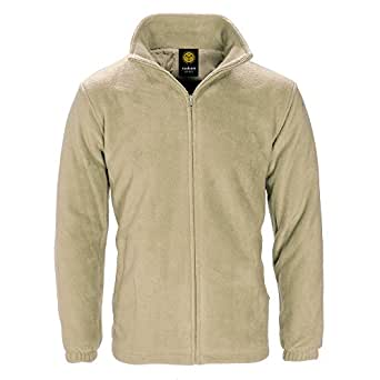Raiken Anti Pill Full Zip Polar Fleece Jacket-Beige-S
