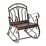 Outsunny® Schaukelstuhl Schaukelsessel Schwingsessel Gartenstuhl Relaxstuhl Sessel Metall