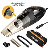 [Upgraded] Car Vacuum Cleaner with LED Light, HOTOR...