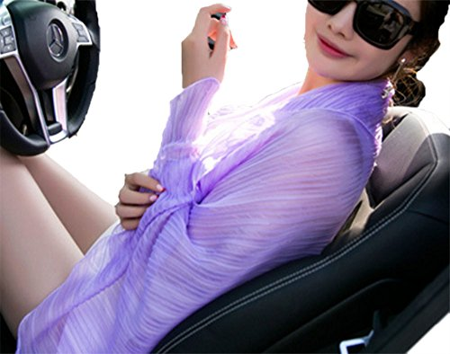 Frauen Chiffon Sommer Sonnenschutz Schal Strand Vertuschung Wrap Schal Abdeckung Driving Cardigan (Wrap Cardigan Schal)