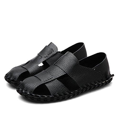 Miyoopark , Sandales Compensées homme Noir