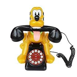 Landline Phone Dog Animal Shape - Yellow (212) - Office Telephone