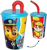 Trinkbecher / Trinkflasche - mit Strohhalm & Deckel -