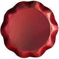 Vassoio Rosso Satinato diam. 30cm cartoncino